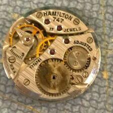 1952 Hamilton 747 8/0s 17j Men's Wristwatch - Watchmaker Repair Parts