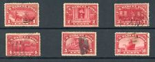 US Q1-Q6 Parcel Post 1c - 10c Stamps - Set of 6 - Used with Varied Centering