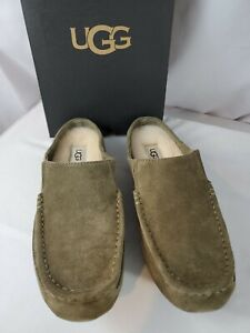 UGG Alamar Slippers Shoes Olive Green Men's Sz. 9 - New in Box & Free Shipping