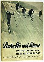 Photo, Ski und Schnee, Ratgeber von 1934, Winterlandschaft und Wintersport
