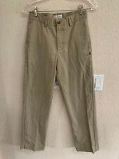 Dennis Uniform Khaki Irvington Flat Front Dress Pant Size 16 Slim (List $30)