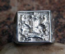 Argentium Sterling Silver Ten Commandments Judaica Men's Ring David Kabbalah