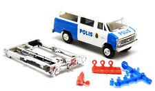Trident 90120 Chevrolet Van Bus Polizei Polis Schweden Streifenwagen 1:87 H0