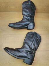Men's Leather Cowboy Boots UK 12.5