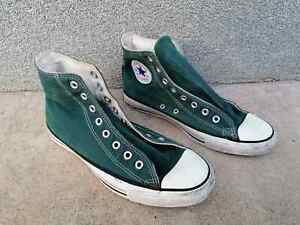 CONVERSE GREEN Chuck Taylor All Star Shoes Size 8 Made In USA