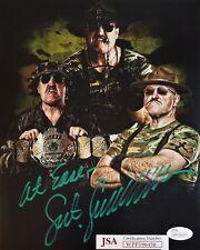SGT SLAUGHTER Autographed Photo 8x10 Signed JSA COA 450 WWE WWF HOF GI JOE