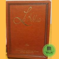 Biblia en Lenguaje Actual Letra Gigante Imit Piel CAFE canto dorado TLA