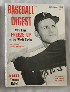 Oct Nov 1960 Baseball Digest Dick Groat Pittsburgh Pirates Ex