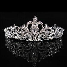 Women Rhinestone Crystal Tiara Crown Hair Jewelry Headdress Bridal Wedding Proms