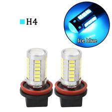 2x Xenon H4 Cree LED 14W 1000LM Bulbs Fog Driving DRL Light len Bulb Ice Blue