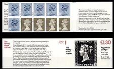 """GRAN BRETAGNA - Libretto - 1981/88 - £. 1,30 - Storia postale """"Penny Black"""" 1840"""