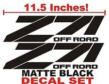 Z71 Truck Bed Decals, MATTE BLACK (Set) for Chevrolet Silverado