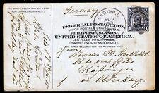 Philippinen P 15, 4 C. McKinley Ganzsachenkarte ab Cebu 30.8.15 nach Deutschland