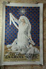 AFFICHE ORIGINALE de CAPPIELLO - LES PANSEMENTS LA CROIX SOLEIL - 1919