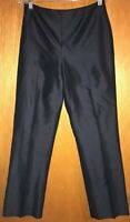 Dana Buchman Aphrodite 100% Silk Pants Black Size 4 Womens Lined Fitted Sleek