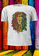 Rasta Hair Bob Marley Lion Colorful T-shirt Vest Tank Top Men Women Unisex 551