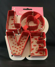 LOVE METAL COOKIE CUTTERS 4 PIECE VALENTINE'S DAY, WEDDING, PARTY  NEW