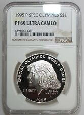 1995 P Special Olympics Proof Silver Dollar Commemorative NGC PF 69 Certified