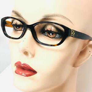 "COACH ""CECILIA"" Eyeglasses Dark Brown Tortoise Frames"