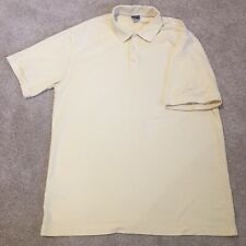 Men's Nike Golf Dri-Fit Yellow Polo Shirt XL