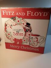 Fitz and Floyd 2006 Cookies for Santa Christmas Plate And Mug