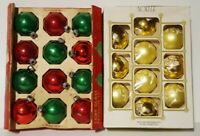 Vintage Lot Of Coby & Noelle Glass Christmas Ornaments Red, Green Gold