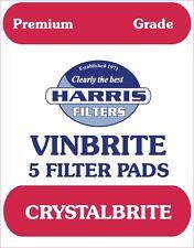 Harris Filters Vinbrite 5 Filter Pads (Crystalbrite) Premium