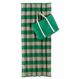 Earth Towel Recycled & Regenerated Beach Towel & Tote Bag Set Green #2246