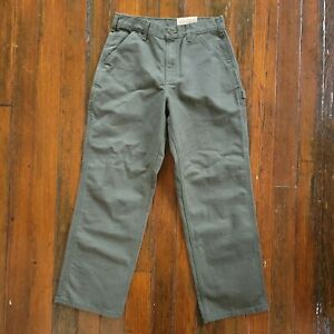 Carhartt Washed Duck Work Dungaree Pants Green NWT Size 31X30