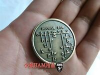 CW Morse Code Decoder Chart Medal Coin Mores Commemorative Coin Gift Prize
