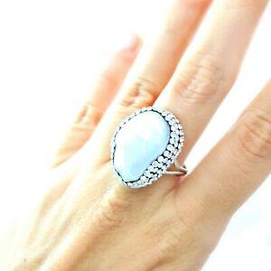 Natural Baroque Pearls Swarovski Druzy Ring Wedding Turkish Woman Jewelry 2134