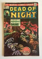 Dead of Night #5 GD Marvel Comics Bronze Age Horror Vampires 1974