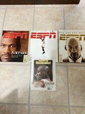 (4) Vintage Michael Jordan ESPN The Magazine and Sports Illustrated Magazines!