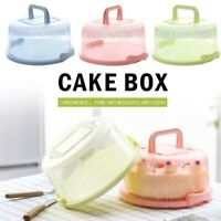 Cake Storage Box Round Birthday Bar Cup cake Container Plastic Wedding Kitchen-