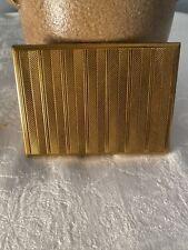 New listing Vintage Art Deco Evans Gold Tone Cigarette/ Business Card Case
