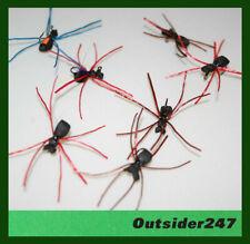 1/2 dozen (7) Foam Spider - Terrestrial - Flex Floss Legs - Sub Surface Fly Usa!