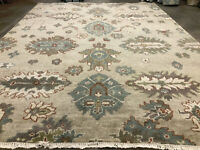 8x10 MUTED WOOL RUG HAND-KNOTTED ORIENTAL handmade farmhouse handwoven neutral