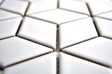 Mosaïque carreau céramique noir cube 3D brillant noir 13OV-0301_b   1 plaque