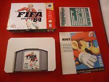 FIFA Soccer 64 (Nintendo 64, 1996) N64 Near Complete w/ Box game WORKS!
