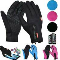 Winter Thermal Waterproof Fleece Lined Warm Full Finger Gloves Touch Screen