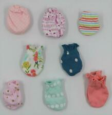Baby Girl Multi Brand Multi Color No Scratch Mittens 0-6 Months LOT OF 8