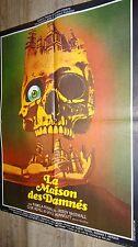 LA MAISON DES DAMNES  !   affiche cinema epouvante 1972