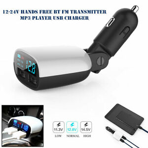 3.4A Car FM Transmitter Wireless Bluetooth MP3 Player Radio Adapter USB Charger