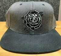 "Lurking Class by Sketchy Tank ""Rose"" Snapback Hat (Grey and Black) Men's Cap"