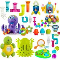 Child Baby Kids Bath Time Toys - Rubber Float Squeeze Wash Swim Suction Pipes