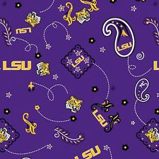 LSU Bandana Print-BTY-Sykel Ent.-Louisiana State-Football-Boy-Man-Purple-Yellow