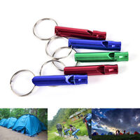 5X Alloy Aluminum Emergency Survival Whistle Outdoor Camping Hiking Keychain Pop