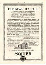 1922 Squibb Pharmaceutical Chemical Household Products Lotions Potions Print Ad