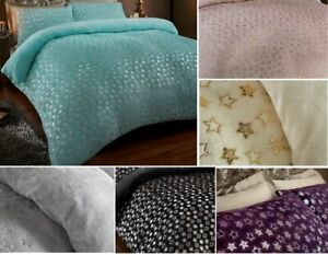 STAR FOIL Velvet Touch Fleece Fitted Bed SHEET Warm and Cozy
