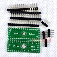 5pcs NEW QFN32 QFN40 to DIP 32/40 Adapter PCB Board Converter Double Sides E10